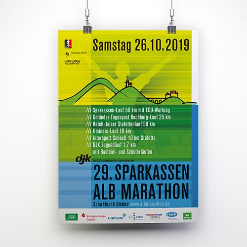 albmarathon schwäbisch gmünd | plakat