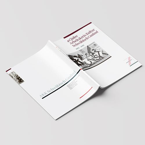 arbeitskreis kultur schwäbisch gmünd | dokumentation über 40 Jahre, 1977–2017 | titel-/rückseite