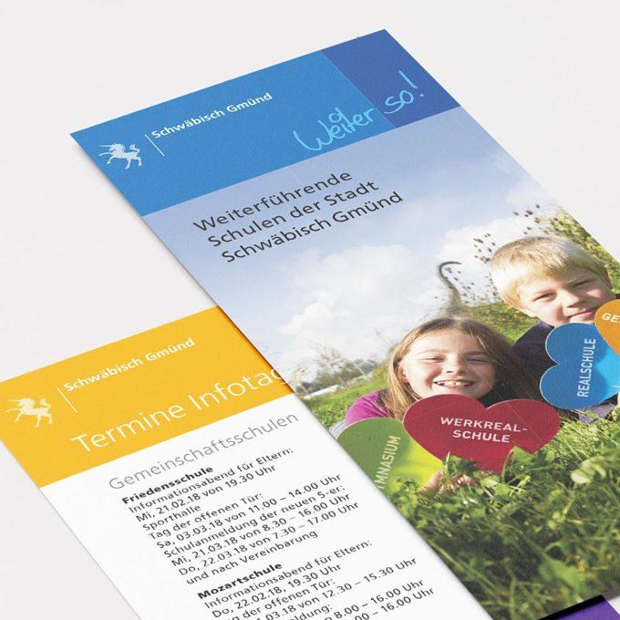 stadt schwäbisch gmünd | weiterführende schulen der stadt | broschüre
