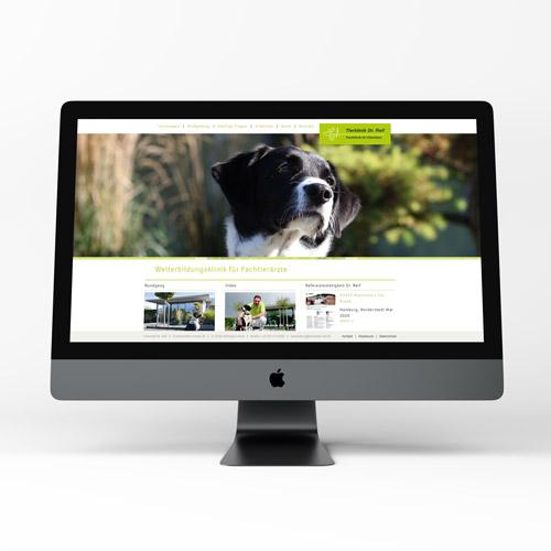 zoodesign webdesign für die tierklinik reif