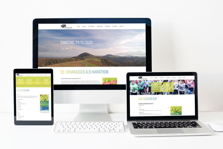 Zoodesign Homepage für Alb Marathon Schwäbisch Gmünd