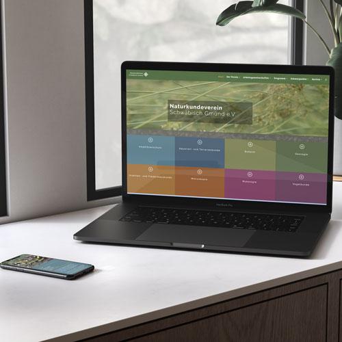 zoodesign homepage für den naturkundeverein schwäbisch gmünd