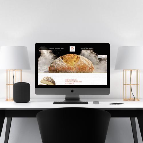 Homepage für die Bäckerei Schmid Kuhn